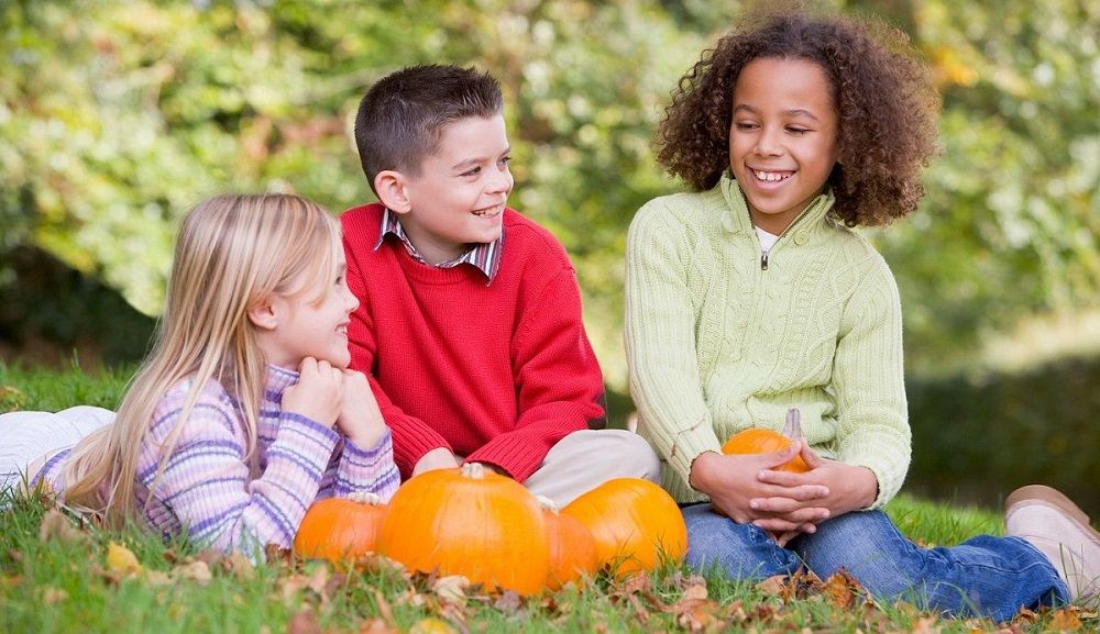 Children Enjoying Fall Attractions In Iowa